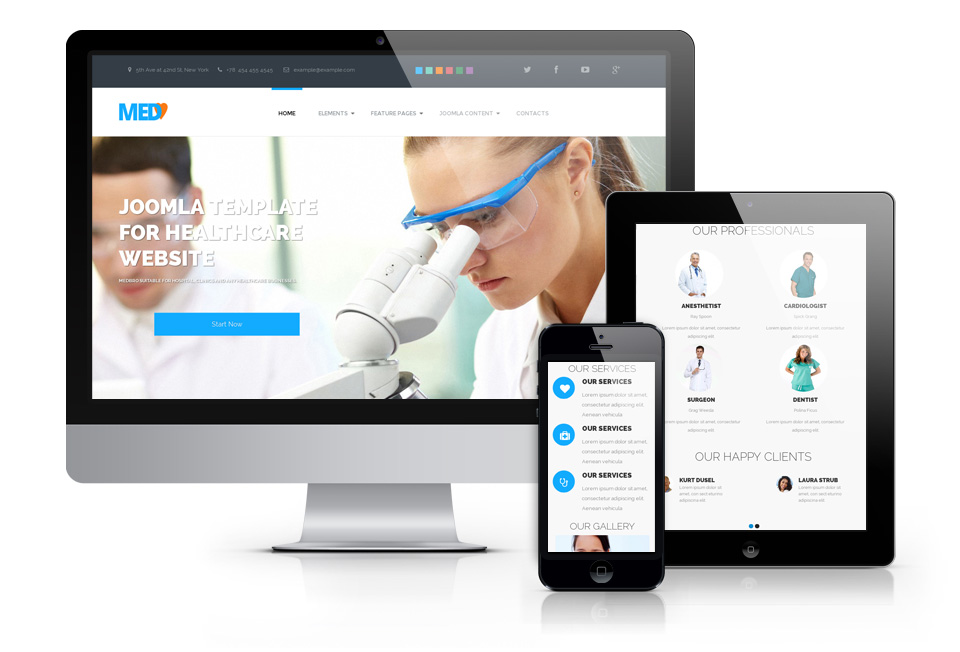 OS MedBro – responsive medical Joomla template