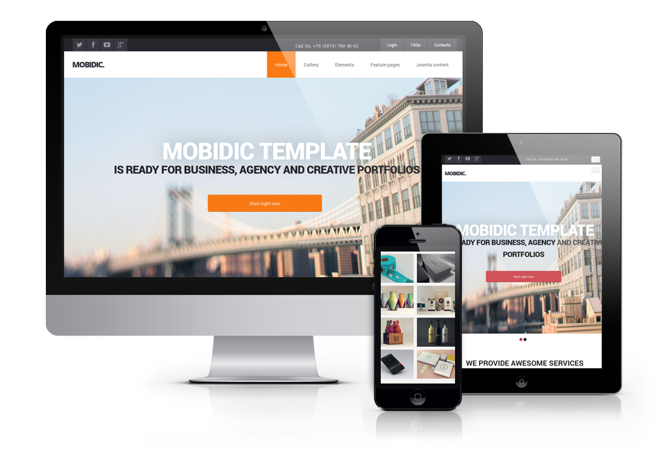 Mobidic, corporate and business Joomla template 2014