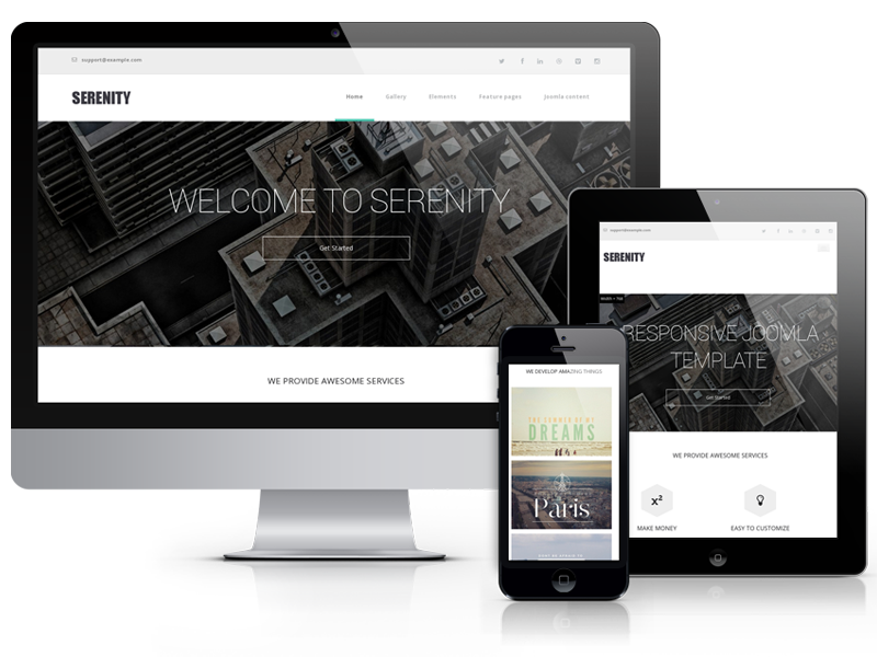 Serenity, modern website template