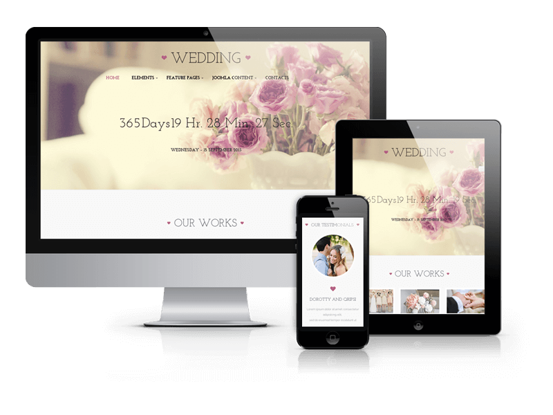 Wedding, joomla wedding template