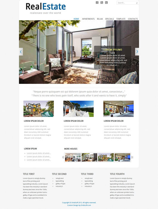 Joomla Template Real Estate Broker May