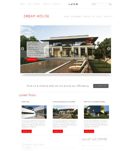 Dream House, free real estate Joomla template 2012