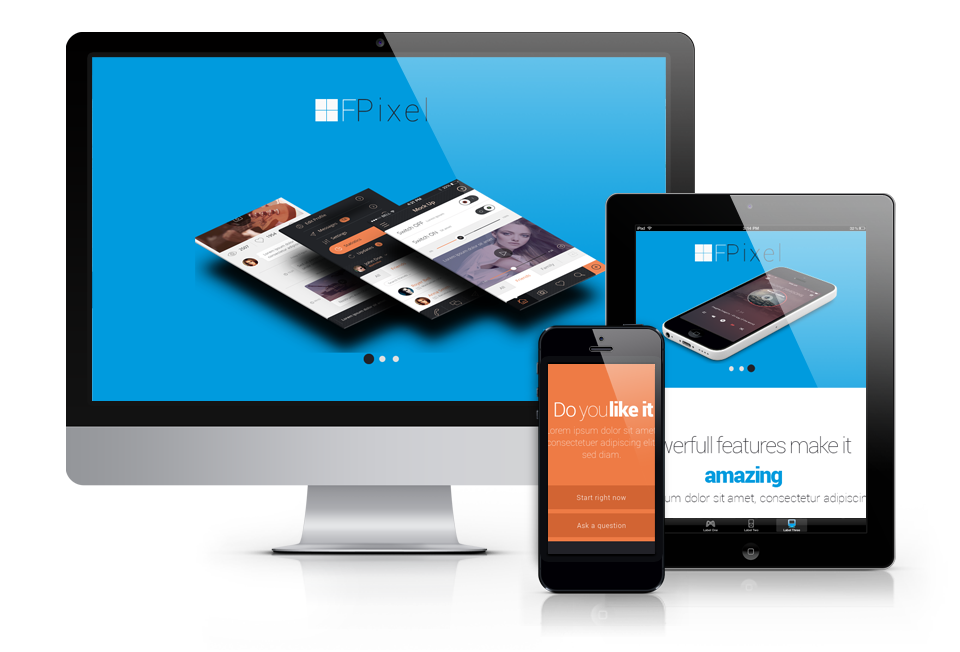 OS Flat Pixel - creative portfolio template