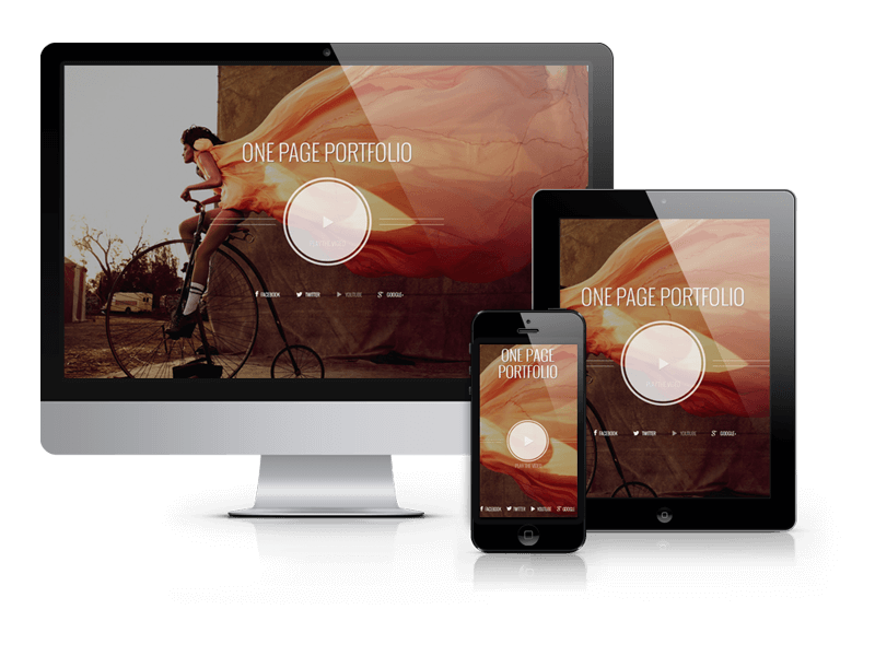 Photographer Joomla one page portfolio
