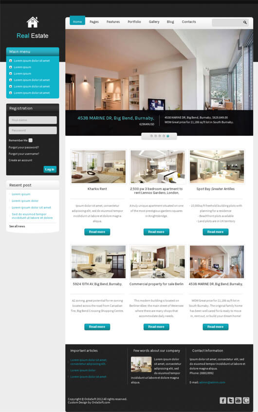 Your Property Joomla Template for Real Estate and Property website