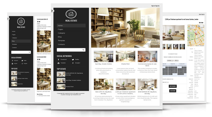Royal Estate Joomla Template for property and real estate websites