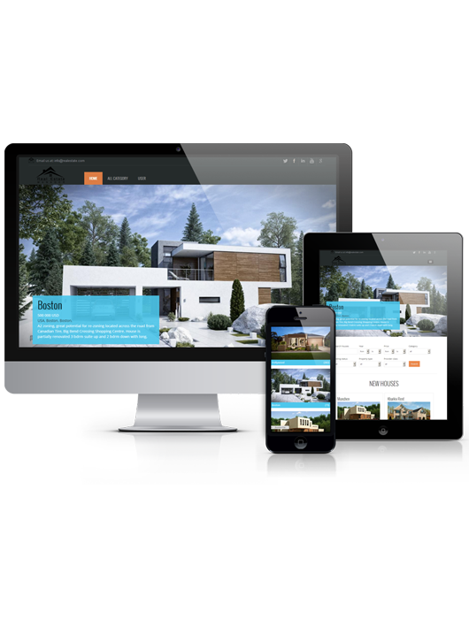 Real estate, free Joomla template November 2013