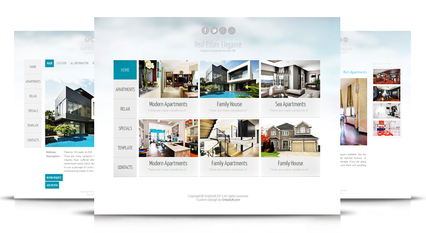 Joomla Template Real Estate Elegance