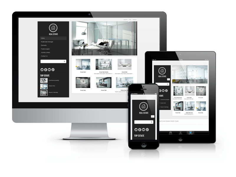 Royal Estate, commercial real estate Joomla template 2013