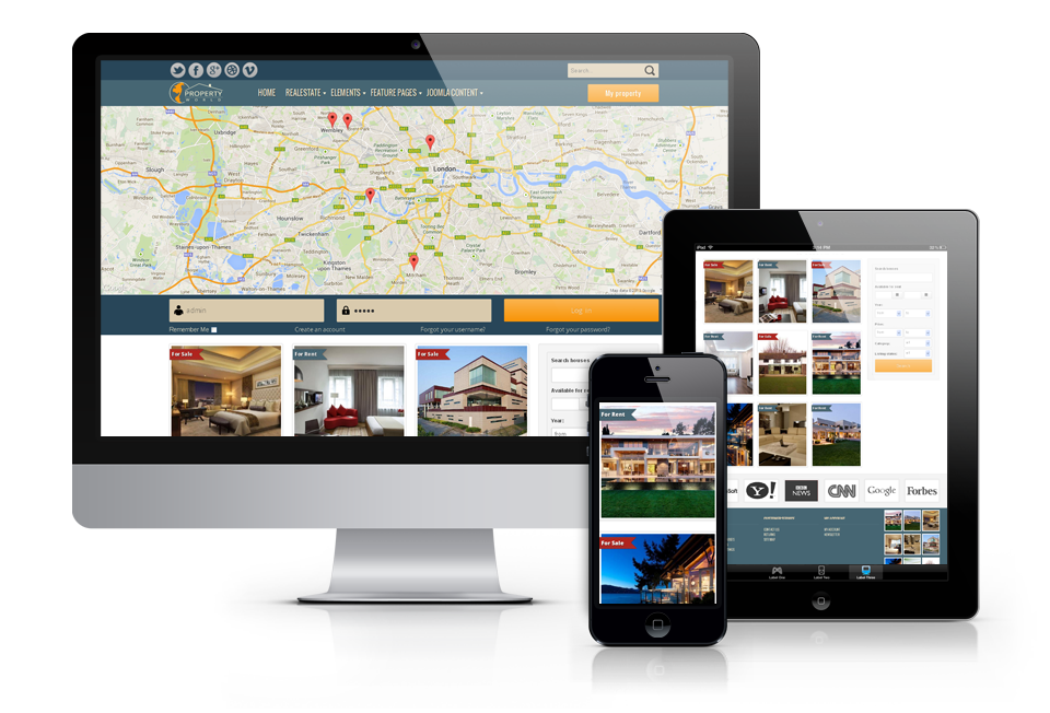 Real Estate Joomla website template World Property