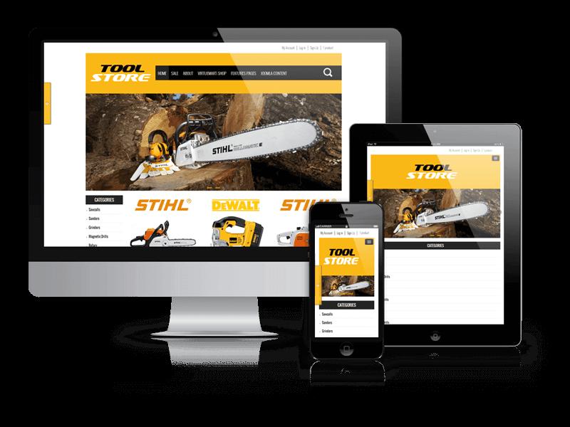 Responsive Joomla template ToolStore