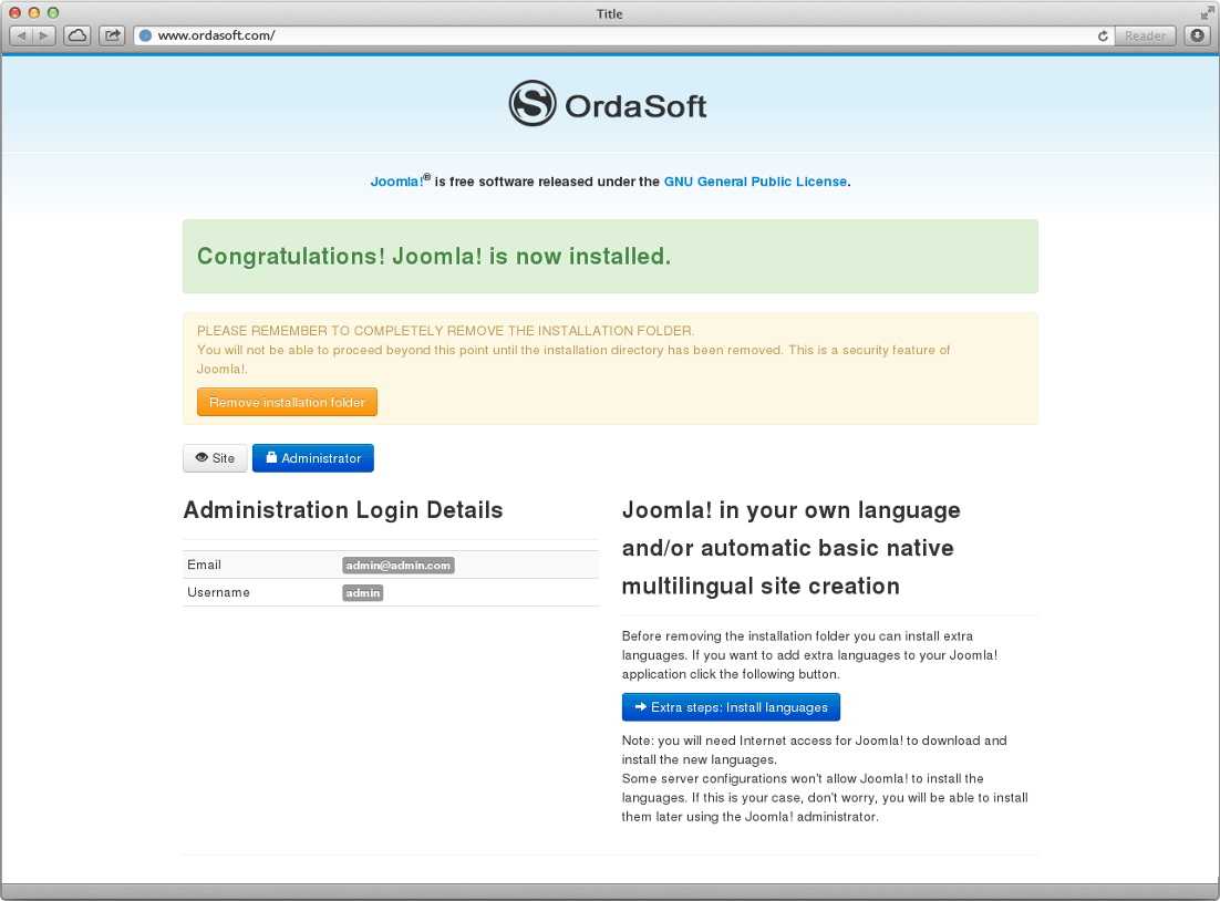 how to install joomla quickstart package joomla tutorials news