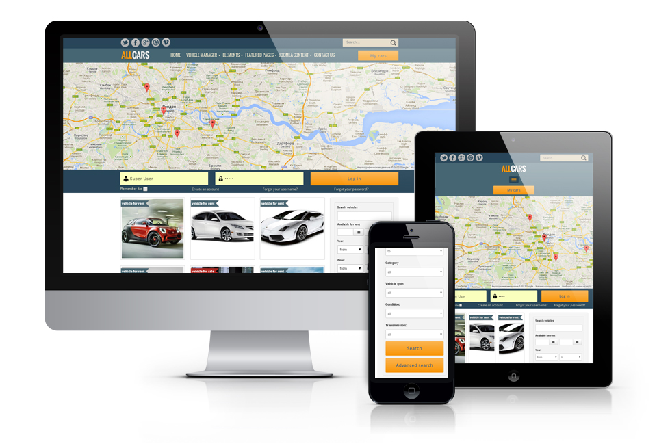 all cars responsive joomla template
