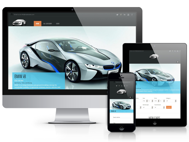 Joomla 3.2 Car Template free