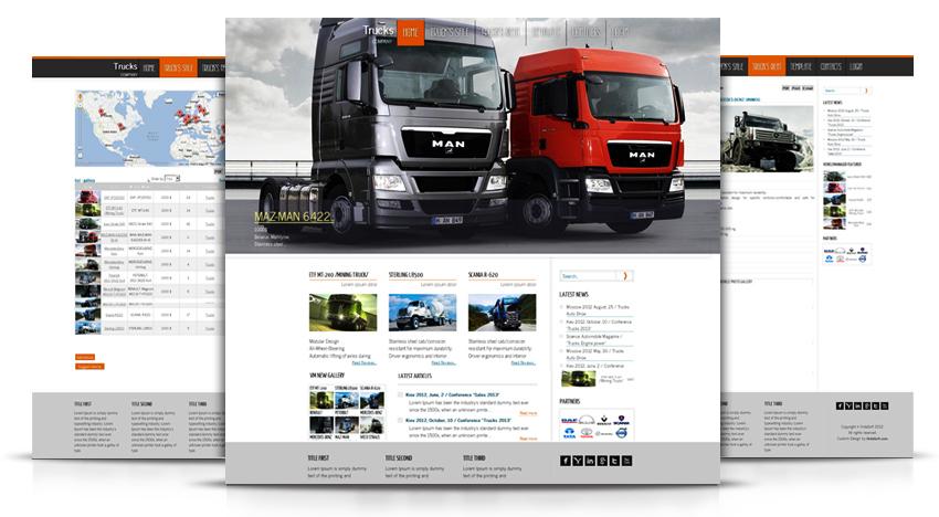 Joomla Template Trucks, Joomla template Auto, Joomla Template