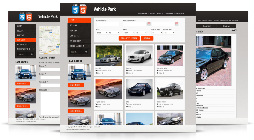 Joomla Car Template, professional Joomla Template for Auto, Car and Vehicle website