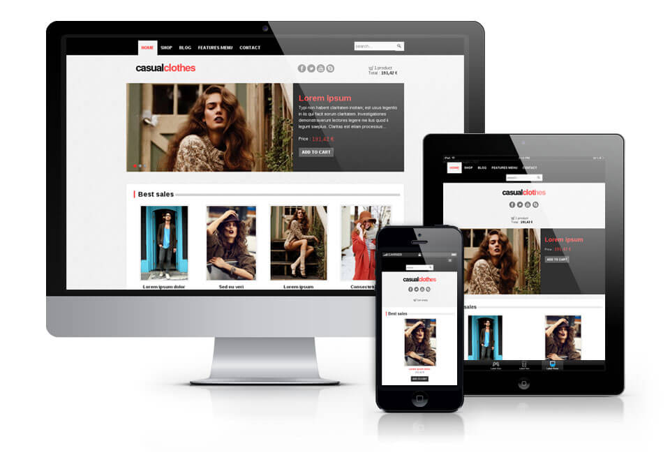 CasualClothes, Virtuemart Joomla template 2012