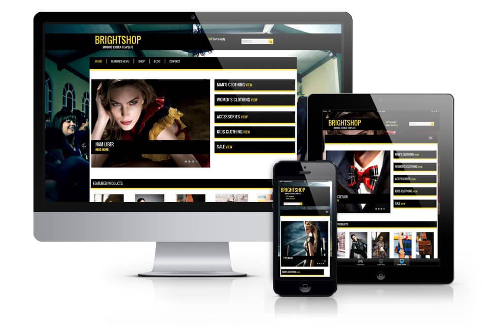 BrightShop, Virtuemart Joomla template 2012
