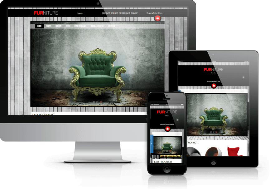 Furniture, Virtuemart Joomla template