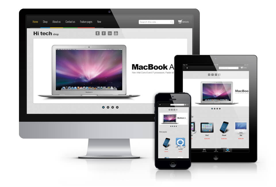 Hi tech shop, Virtuemart Joomla template 2013