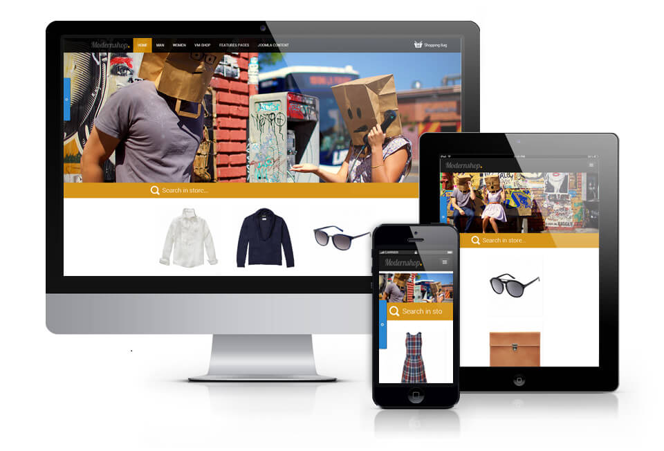 Modernshop, Joomla Ecommerce Theme