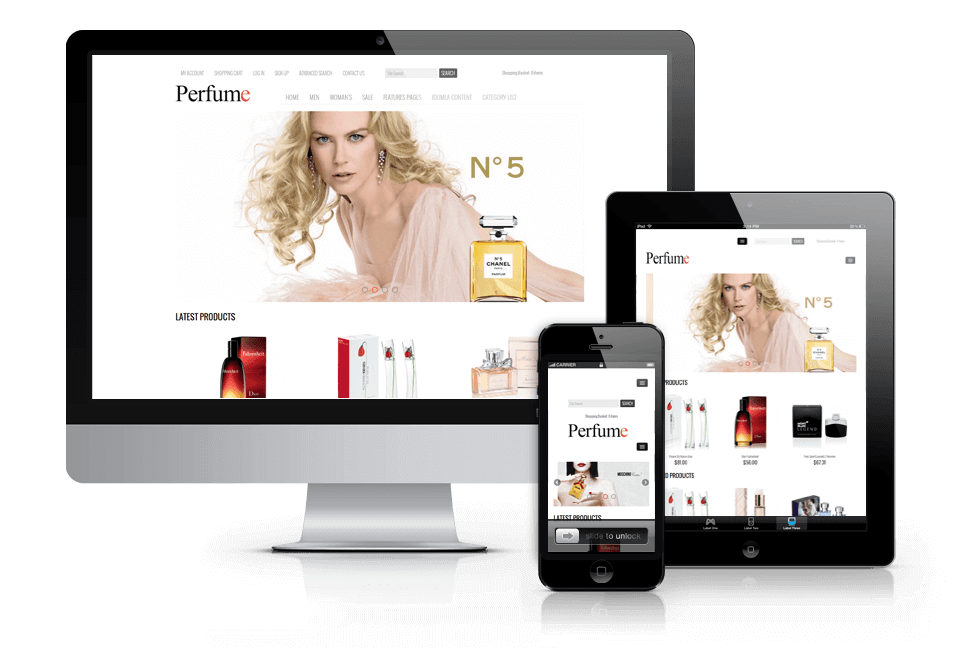 Joomla VirtueMart Template Perfume shop