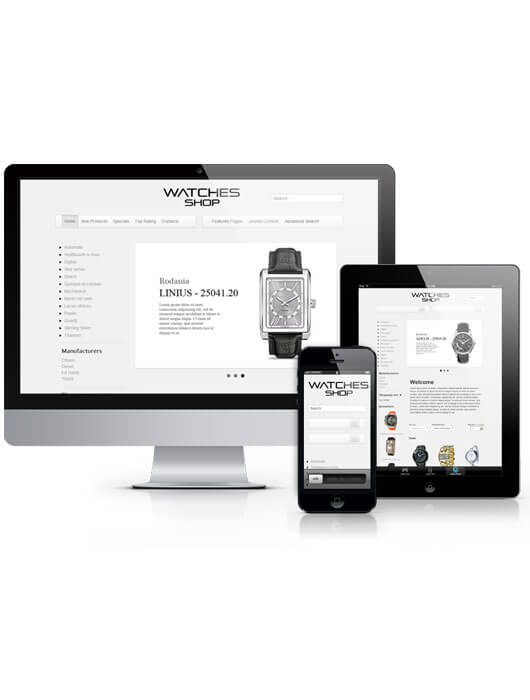 Watches shop, Virtuemart Joomla template 2013