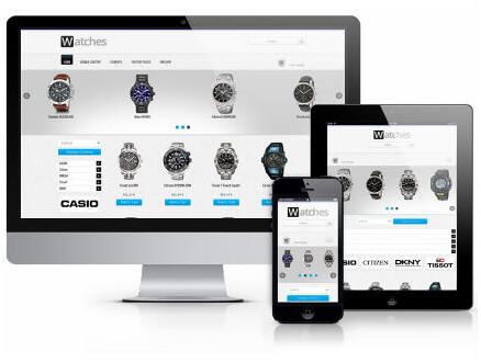 Watches, Free Virtuemart Joomla template