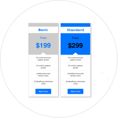responsive pricing tables html css in Membership site software