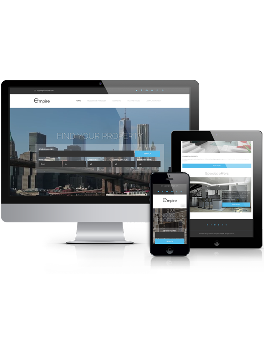 Empire, responsive real estate Joomla template, 2014